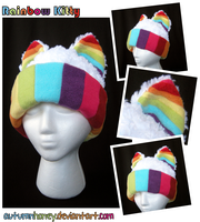 Rainbow Kitty Cat Hat by AutumnHoney