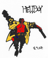 Hellboy quick colour version by Al-the-Monkey