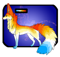 :CLOSED: Fire Fox Adoptable by Timber-Wolf-Spirit