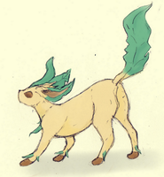 5# Draw Your Favorite Eeveelution : Leafeon by Bapazu