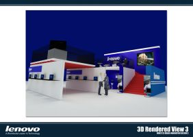 Lenovo Booth 3D Rendered 03 by chuinhao10