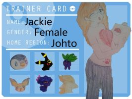 PokeBros Trainer card , Jackie by Jayberryblue