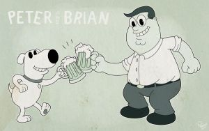 Peter + Brian by Penelles