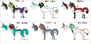 Scene Dogs Adoptables 3. by MichelsAdoptions
