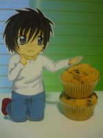 L Loves His Muffins :3 by ThEsI-HellZ-No