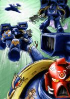 space marines warhammer 40k by uriel-ventris