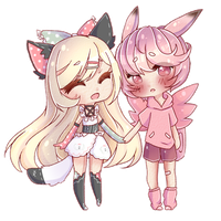 Commission  : Nyxie and Nero by Ripurii