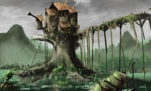 Swamp house by StargazerRJL