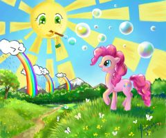 How Pinkie see a wold around us) by UnnameLuna