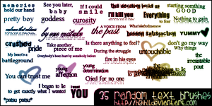 Random Text Brushes 005 by H0shii