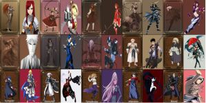 My Fate Stay Night Servants by N0-oB213