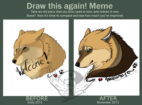 Draw this again meme time :3 by WolfOfTheWinterMoon