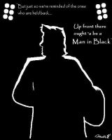 Johnny Cash Silhouette by cheddarpaladin