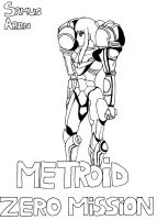 MZM samus ending 2 lineart version by ValePeach