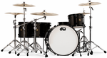 DW Jazz series in metallic black by drumb