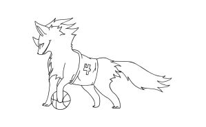 Basketball Wolf WIP by KaalKaal