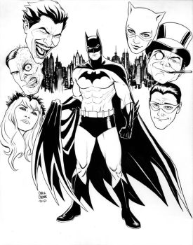 Batman and his Rogues by craigcermak