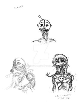 Fnaf Sister Location: Ennard sketches by MadOtto