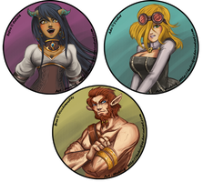 Free Busts - Sefira, Ada and Bren by Hedrick-CS