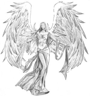 The gallery for --> Warrior Angel Drawing