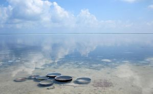 cooking pots and horizon by paperclippenny