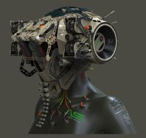 Cyborg for testing water air and soil by Oshanin