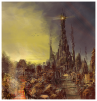 Steam Punk Barad Dur by ShikeyBoy