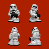 Fighter Pods Storm Trooper Pose 1 by Merkaba998