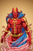 Red Tornado 1.0 (Earth-27) commission by phil-cho