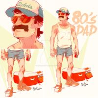80's Dad by Mikuloctopus
