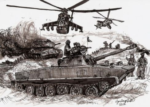 Red Dawn PT-76 Light Tank by shank117