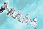 Pokemorphs-Justin to Absol by Jonesycat79