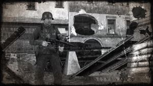 Soldier with MP40 by Narox22