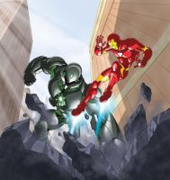 Titanium  Vs. Iron Man Cover by MBorkowski