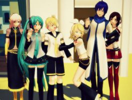 Vocaloid Family by whiteykids