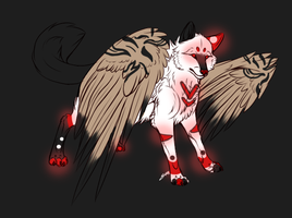 Winged Wolf Adopt by SerenadingLove