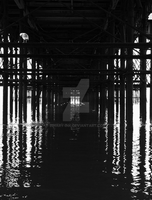 Under Blackpool Pier by Binary-Ink