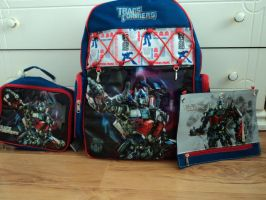 Optimus Prime Backpack Set by KristenitaPrime7