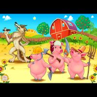 - Three little pigs and bad wolf - by neptune82