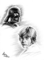 Luke and Darth by YunakiDraw