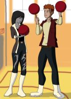Kid Flash and Kaira by Senshisoldier