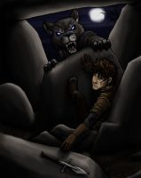 Teucer and the werewolf by daidaishar