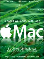 Leopard with Mac Logo by Linwe-Limballanwe