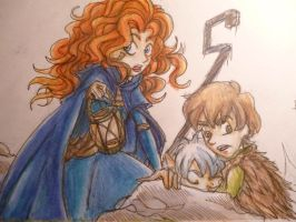 Merida - Hiccup - Jack Frost - THERE! by AelitaC