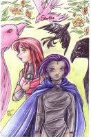 Starfire and Raven by Kriska