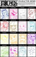 One Piece Character Meme by Umi-no-Rex
