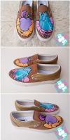 heart and apple shoes by mburk