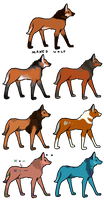 (Closed) One Point Maned Wolf Adoptables by lnconvenient