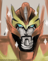 Rodimus with the fake mustache~ by Remedystune