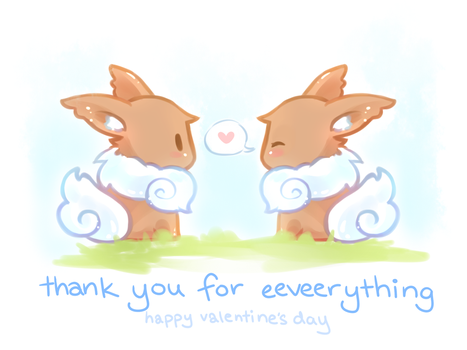 Valentines Day- Thank you for Eeveerything by nanomori